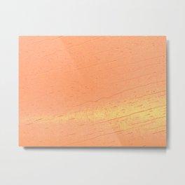 Orange Rain Metal Print