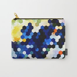 Yellow and Blue Honeycombs Carry-All Pouch