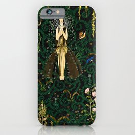 1921 Classical Masterpiece 'Flowers and Flames' by Kay Nielsen iPhone Case