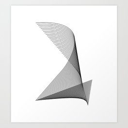 """""""Linear Collection"""" - Minimal Number Two Print Art Print"""