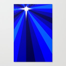 Blue Christmas Star Canvas Print