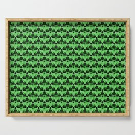Nuclear Green & Black Nuke Symbol Serving Tray