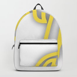 Letter F in Yellow Backpack
