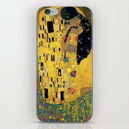 Curly version of The Kiss by Klimt iPhone Skin