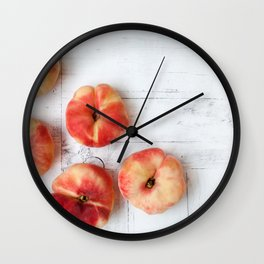 Fig peaches Wall Clock