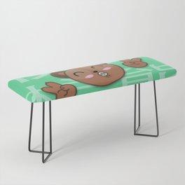 Happy Brown Bear Bench