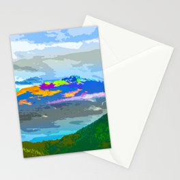 Mountain Color #mountain #illustration Stationery Cards