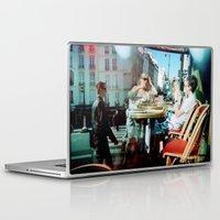 arsenal Laptop & iPad Skins featuring Cafe Arsenal, Paris (Double Exposure) by istillshootfilm
