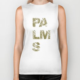 Palms Typo  #society6 #decor #buyart Biker Tank