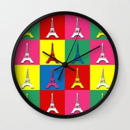 Pop art Paris Wall Clock
