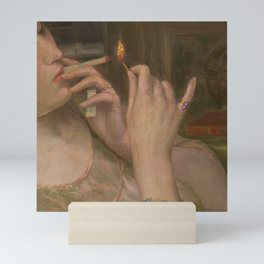 'After Leaving Suzanne, Midnight 'a portrait painting by Auguste Levêque Mini Art Print