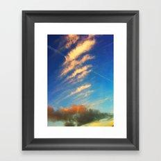 Beauty clouds Framed Art Print