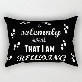 I Solemnly Swear That I Am Reading Rectangular Pillow