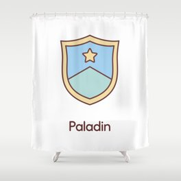 Cute Dungeons and Dragons Paladin class Shower Curtain