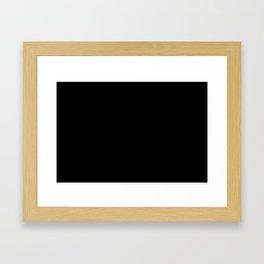 Control Your Game - White on Black Framed Art Print