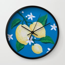Lemon Blossom Wall Clock
