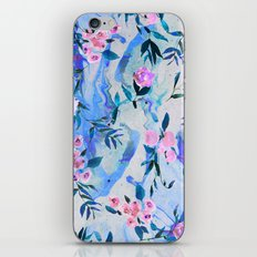 Floral Marble Swirl iPhone & iPod Skin