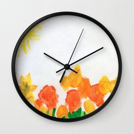 Watercolor Floral Series B Wall Clock