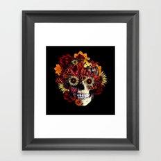 Full circle...Floral ohm skull Framed Art Print