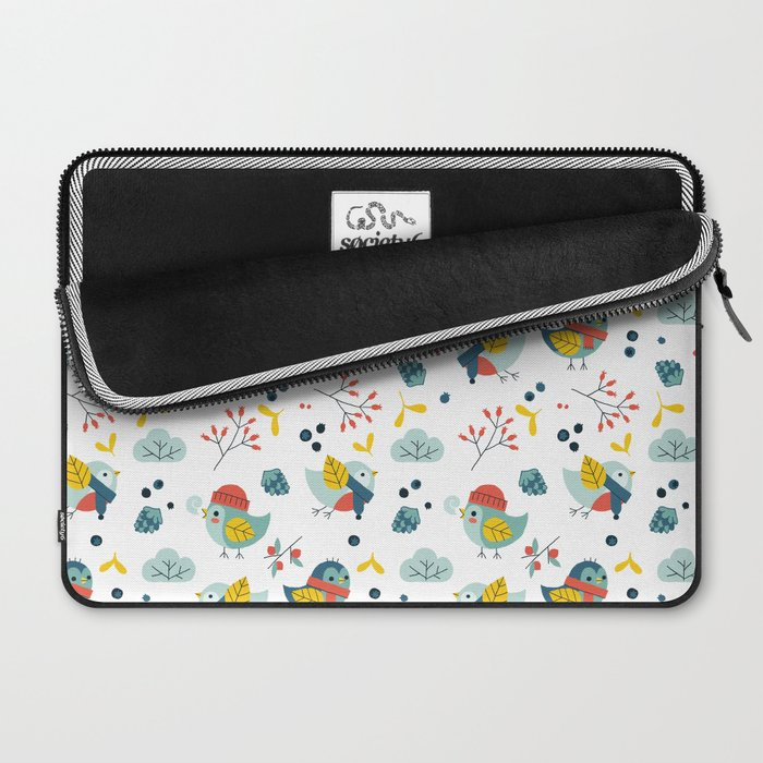 winter birds pattern Laptop Sleeve