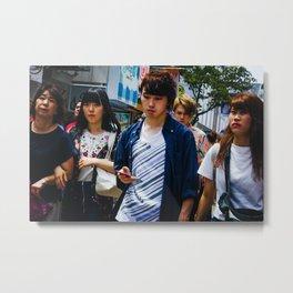 Takeshita Street Metal Print