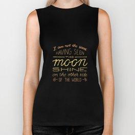 moon quote Biker Tank