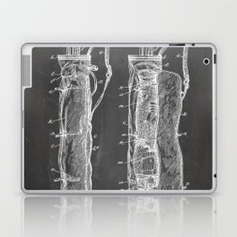 Golf Bag Patent - Caddy Art - Black Chalkboard Laptop & iPad Skin