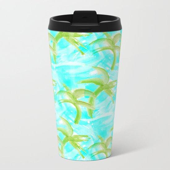 Tropical Abstract_Oceans Metal Travel Mug