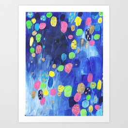 Abstract Candy Rain Colorplosion Art Print