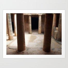 doorway - tomb of the kings Art Print
