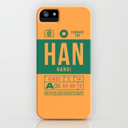 Baggage Tag B - HAN Hanoi Noi Bai Vietnam iPhone Case