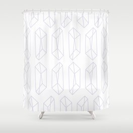 Almost Geometric Jewels Pattern 2 Shower Curtain