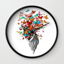 Butterfly Shell Wall Clock