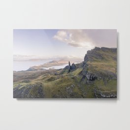 Landscape mountain view Scotland Isle of Skye Metal Print