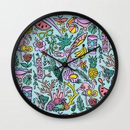 Tropical Fantasies Wall Clock