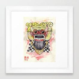 Face Of Barong Framed Art Print