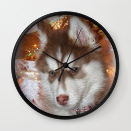 Husky Eyes Wall Clock