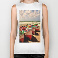boats Biker Tanks featuring boats by  Agostino Lo Coco