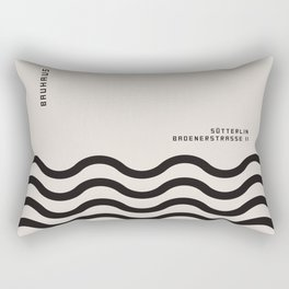 BAUHAUS art, interior, matisse, picasso, drawing, decor, design, bauhaus, abstract, decoration, home Rectangular Pillow
