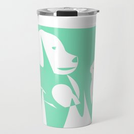 Carnival Glass Dog Loves Cat Travel Mug
