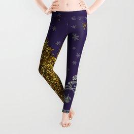 Beautiful glitter New Year Leggings