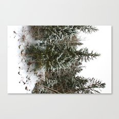 French Alps Trees Canvas Print