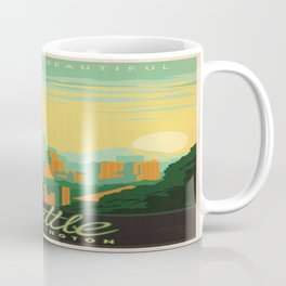 Vintage poster - Seattle Coffee Mug
