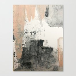 Peace and Quiet [1]: a pretty, minimal abstract piece in gray and peach by Alyssa Hamilton Art Canvas Print