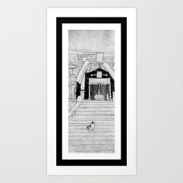 Shrine Cat Art Print