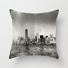 Lower Manhattan, New York City Throw Pillow