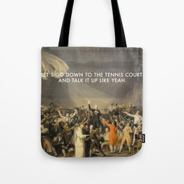 Tennis Court Oath Tote Bag