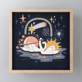 Cosmic lovers Framed Mini Art Print