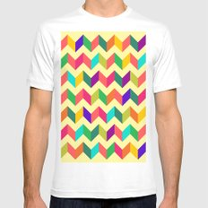 Wave Pattern MEDIUM Mens Fitted Tee White