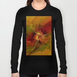 Warmth, Abstract Fractal Art Long Sleeve T-shirt